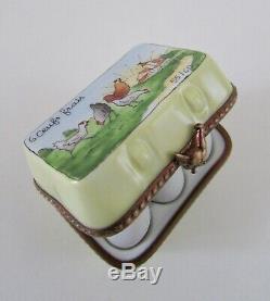 Limoges Marque Deposse Peint La Mein France Easter Egg Carton Trinket Box