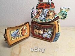 Limoges NOAH'S ARK LA GLORIETTE Peint main France RARE Vintage Box