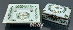 Limoges Napoleon Bee Trinket Box & Trinket Tray Set Mint Condition
