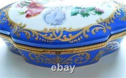 Limoges New Genuine Porcelain Original Large Dresser Box Peint Main France $2000