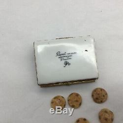 Limoges Peint Main Chocolate Cookies Trinket Box Original with Cookies