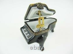Limoges Peint Main Grand Piano Trinket Box Limited Edition 7/260 Em