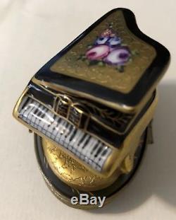 Limoges Peint Main Grand Piano small trinket box