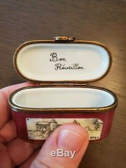 Limoges Peint Main Rochard Foie Gras Trinket Box