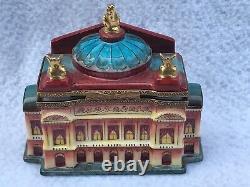 Limoges Peint Main Trinket Box PARIS OPERA House With Mask Mint