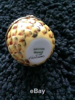 Limoges Pineapple Trinket Box Hand-Painted Porcelain