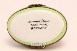 Limoges Porcelain Hippo On The Waterfront Hand Painted Trinket Pill Box Rochard