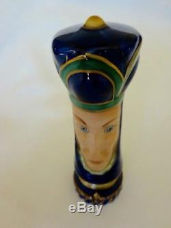 Limoges Queen Chess piece, Trinket Box, Love Token, Hand Painted Rochard
