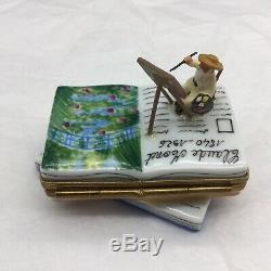 Limoges Rochard Claude Monet Painting Book Japanese Bridge Giverny Trinket Box