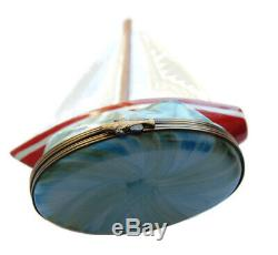 Limoges Sailboat Trinket Box Charmart French Vintage Collectibles Miniatures