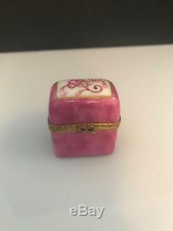 Limoges Trinket Box 2 Perfume Bottles 1 Box (3 Pieces)