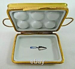 Limoges Trinket Box, Artoria Gold Cupcake Tin/Tray With Removable Cupcakes