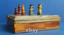 Limoges Trinket Box CHESS BOARD Made In France