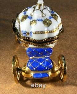 Limoges Trinket Box CINDERELLA CARRIAGE With SLIPPER! ROCHARD Peint Main France