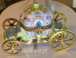 Limoges Trinket Box Disney Cinderella Carriage Hinged W Slipper