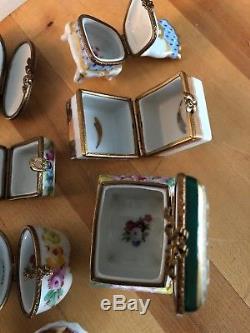 Limoges Trinket Box Lot Floral