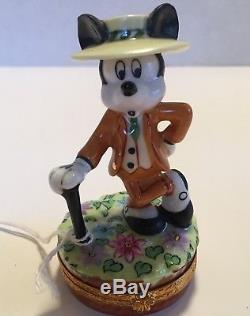 Limoges Trinket Box Mickey Mouse Nifty Nineties Disney Artoria Rare! Nos