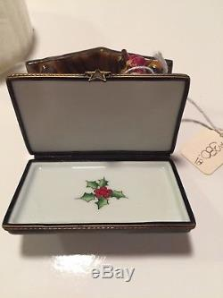 Limoges Trinket Box Nativity Christmas France Rochard Peint Main New Old Stock
