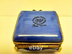 Limoges Trinket Box PV Marque Deposee Cat On A Pillow