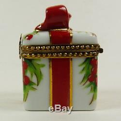 Limoges Trinket Box Peint Main Christmas Present Hand Painted Signed