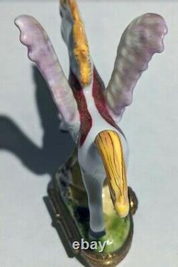 Limoges Very Rare Vintage Pegasus Winged Horse Trinket Box Hand Painted France