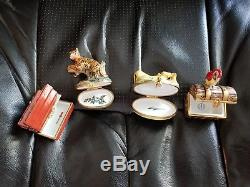 Limoges hinged boxes, selection of 12, Each unique and rare
