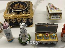Limoges large 27 piece collection Various trinket boxes