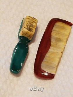 Limoges peint mein blow dryer comb brush trinket box Peint Mein France New