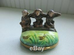 Limoges three monkeys trinket box