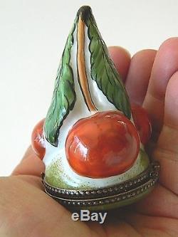 Limoges trinket box-Cherries