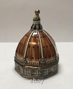 Limoges trinket box, Eximious, peint main, Florence Duomo