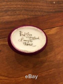 Limoges trinket box marechal peint main Certificate Included