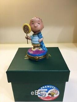 Linus Peanuts Licking A Lollypop Artoria Limoges Box