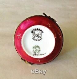 Lot 5 Vintage Dubarry Limoges France Cat Frog Flower Hand Painted Trinket Boxes