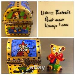 Lot Of 5 BABY THEMED FRENCH LIMOGE BOXES Vintage Mint Beautiful Collection $1K