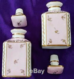 Lot Vintage Signed Limoges Perfume Bottles & Royal Crown Derby Trinket Boxes
