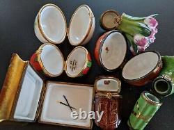 Lot of 11 Limoges France Peint Main Porcelain Trinket Box Degas Cinderella Coach