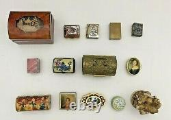 Lot of 14 small vintage trinket boxes multiple countries CRUMMLES LIMOGES CAROLE