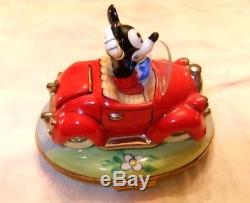 Mickey Mouse In Red Car Disney Limoges Box (artoria)