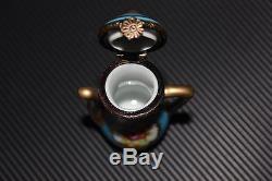 Mini Limoges numbered TEA SET Miniature Hinged Miniatures & Tray Peint Main Mini