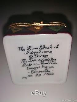 NIB Limoges Box Disney Esmeralda Rare Limited Edition 78/1000 Artoria