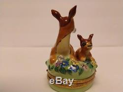 New Rare Retired Artoria limoges trinket box Disney Bambi and his mother
