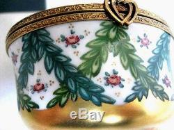 New Rochard Studio Cupids Limoges Box Porcelain Tabatiere Exquisite Valentine's