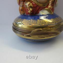 Nice Limoges Buddha Blue Trinket Box Vibrant Colors Mint Parry Vielle