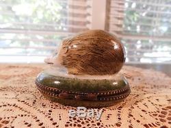 OPossum Limoges France Peint Main T Vialand Lidded Hinged Box