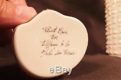 PEINT Main FOR TIFFANY Limoges France Porcelain BUDDHA Trinket Box