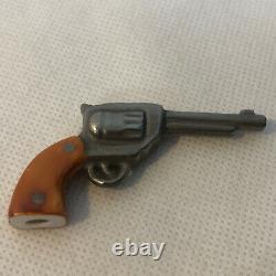 Peint Main Limoge France Marque Deposee COLT with Removable Gun Trinket Box