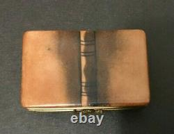 Peint Main Limoges Book of Medicine Trinket Box pills jewelry USED
