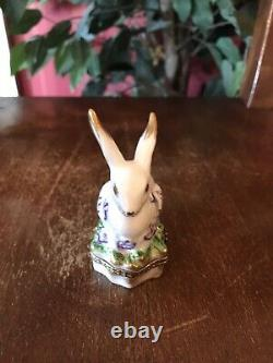 Peint Main Limoges France Rabbit Box