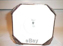 Peint Main Limoges Trinket Box-Antique Designed Limoges Jewelry Box